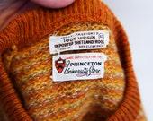 The 1960s Scholar - Official Princeton University Sweater - 100% Virgin Shetland Wool - Mens Vintage - Size M