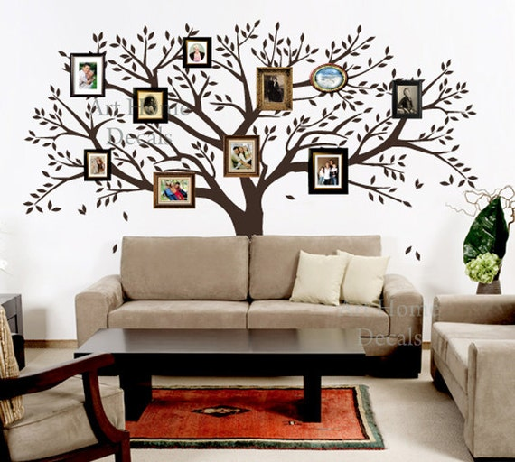 Etsy Family Wall Decor : Items similar to family photo tree wall decor home
