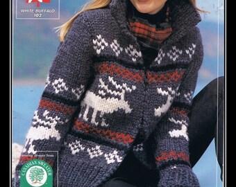 White Buffalo Reindeer Sweater  Pattern #102