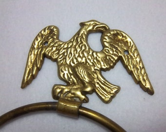 Brass Eagle Towel Holder Vintage Home Decor