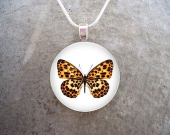 Butterfly Jewelry - Glass Pendant Necklace - Butterfly 1 - RETIRING 2017