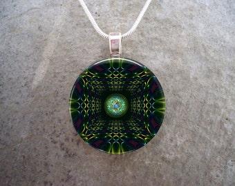 Mandala Jewelry - Glass Pendant Necklace - Mandala 45 - RETIRING 2017