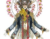 The Sacred Liberation demon faun painting print