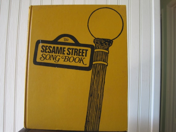 Vintage 1971 Sesame Street Monster at the End of Book Hardcover Childrens Book