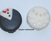 Oreo Cookie Bride and Groom - Chocolate Covered Oreo Cookies - Oreo Cookies In Chocolate - Chocolate Favors