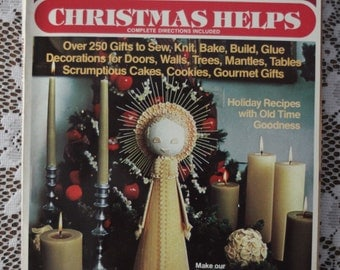 Family Circle Christmas Helps 1976 Magazine with over 250 gifts to sew, knit, bake, build with complete directions included