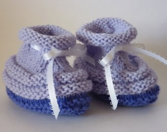 Baby Booties hand knit in a washable acrylic blend