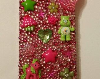 Hot Pink and Bright Green Iphone 4 / 4s case
