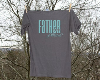 Father of the Bride Classic Droid with Date Wedding Party Shirt