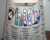 Philly Upcycled/Recycled Tshirt Cross Body Bag
