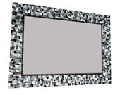 Black and White Mosaic Wall Mirror