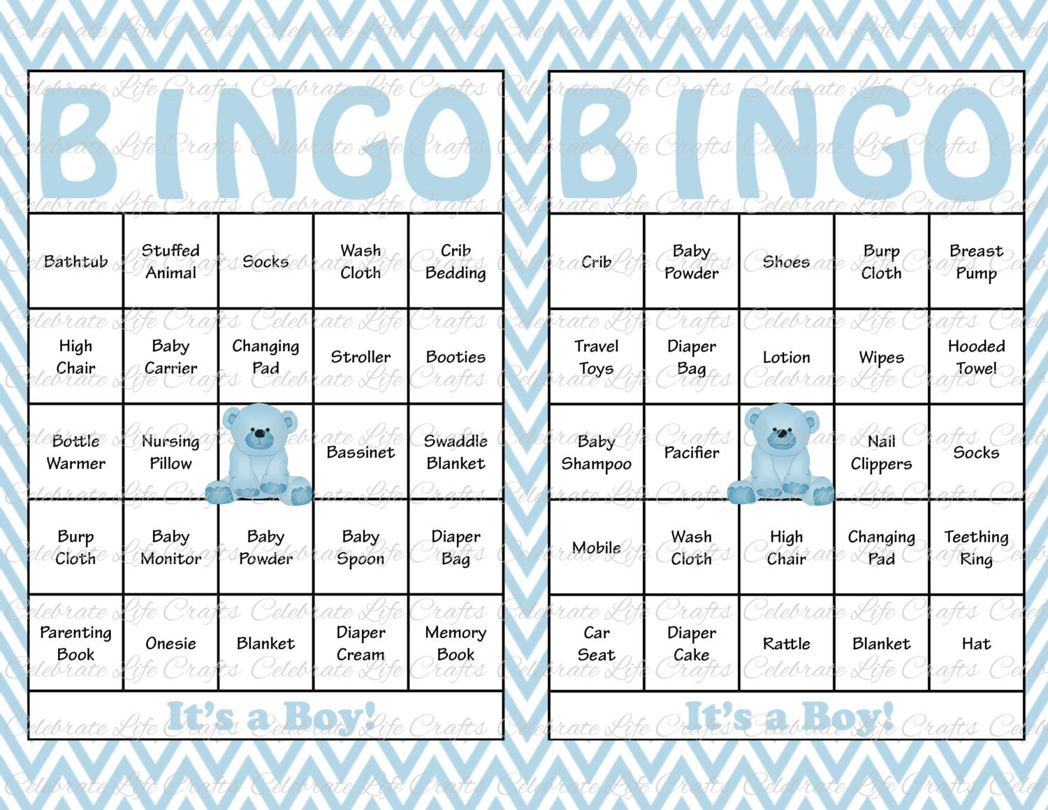 100 baby shower bingo cards printable party baby boy