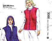 Misses Polar Fleece Zippered Vest and Hooded Vest Sewing Pattern Kwik Sew 3086 Size xs s m l xl