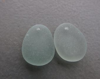 Ecofriendly Seafoam Seaglass Drilled - GENUINE - Jewelry Supply Art Craft Supply