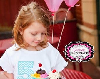Banana Split Shirt, Ice Cream Shirt, Sundae Shirt, Ice Cream Birthday, Sundae Birthday, Girl Birthday Shirt, Summer Birthday, Birthday Shirt
