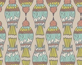 SALE - WINGED by Bonnie Christine for Art Gallery Fabrics - Birds' Peck Jade - 1 Yard - Quilting Weight Cotton