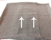 SLIGHT FLAW* ONE - 18 x 18 Brown and Green Flecked Wool Pillow Cover
