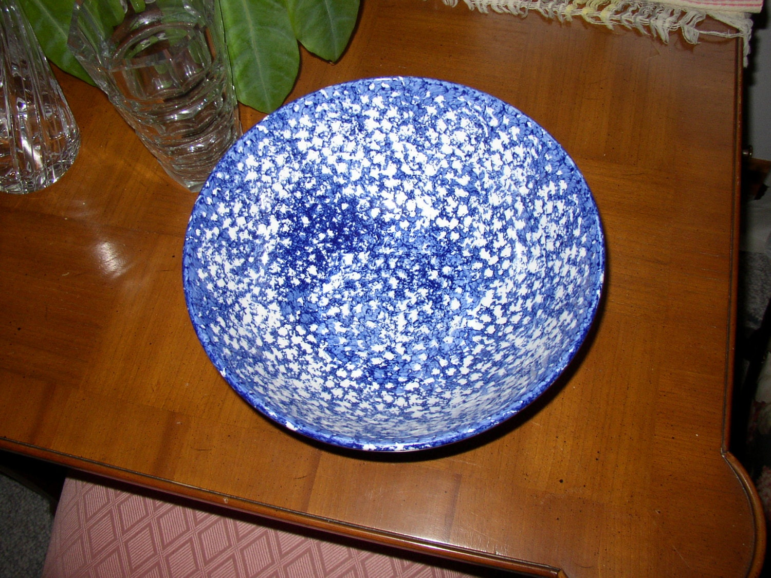 Roma Inc Italian Blue And White 10 5 Inch Bowl