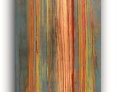 Original Abstract Lines Horizon Painting Contemporary Wall Decor 16 x 40