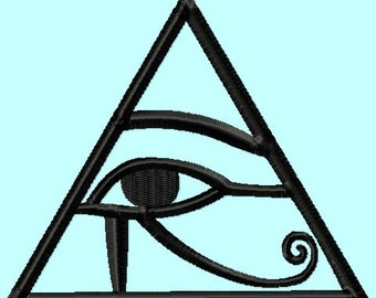 Egyptian Eye Symbol Embroidery Designs    INSTANT DOWNLOAD