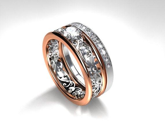 Filigree engagement ring set 0 31ct diamond engagement ring