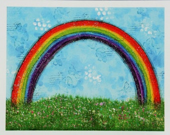 Rainbow greetings card