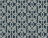 Modern Navy Upholstery Fabric - Blue Geometric Fabric  by the Yard - Navy Blue and White Fabric