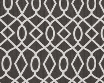 Modern Charcoal Grey Upholstery Fabric Yardage - Grey White Woven Geometric Furniture Fabric - Charcoal Grey Decor - Geometric Headboard