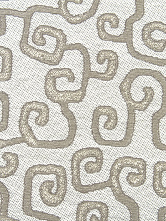 Modern Silver Upholstery Fabric by the Yard Abstract Silver
