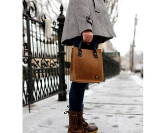 Small Leather Tote Bag | 100% Hand-stitched Durable Full-Grain Leather