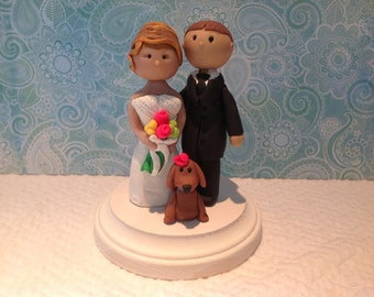 Polymer clay toppe,polymer clay birthday cake topper, handmade,custom,wedding cake topper