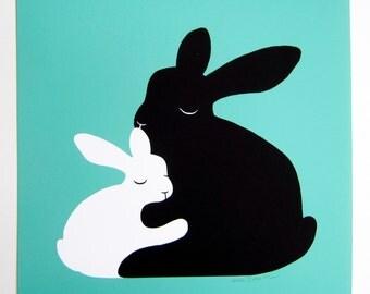 Bunny Love, print