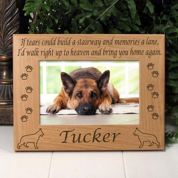 German Shepherd If Tears Poem Dog Memorial Frame