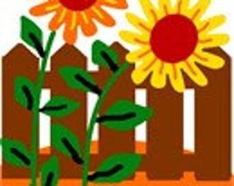 Sunflowers Needlepoint Canvas for Beginners