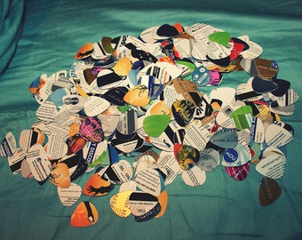 50 Guitar Picks from Upcycled/Recycled/Repurposed Credit/Gift Cards - Handmade, Random, Unique