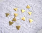 20 Raw Brass Triangles 10x10mm,Geometric Charms,Do it Yourself Geometric necklace