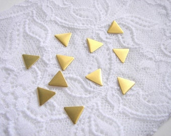 20 Raw Brass Triangles 10x10mm,Geometric Charms,Do it Yourself Geometric necklace