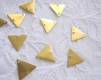 10 Raw Brass Triangles 15x15mm,Geometric Charms,Do it Yourself Geometric necklace