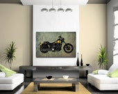 Norton Commando 850 1973 collage, Art Print 12x7.50in to 60x41in, Motorcycle Art print, big size print, large wall print, office decor