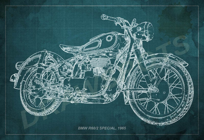 Bmw r602 special 1965 blueprint art print 8x12in to 60x41in bmw r602 special 1965 blueprint art print 8x12in to 60x41in motorcycle art print malvernweather Gallery