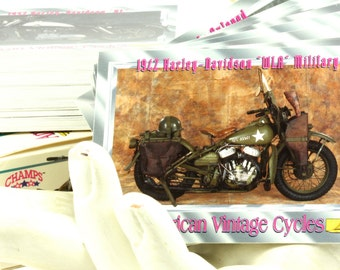 Limited Edition Premier Edition American Vintage Cycles Motorcycle Heritage Museum - Series 1 Collectible Cards