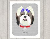Shih Tzu - Dog Nursery Art Print - Custom