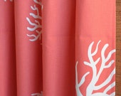 WINTER SALE ⋘ One Pair Window Treatments Curtains Drapery Panels 24W or 50W x 63, 84, 90, 96 or 108L Coral in Coral White shown