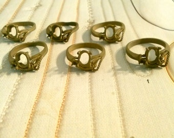 10 Brass Ring Charms