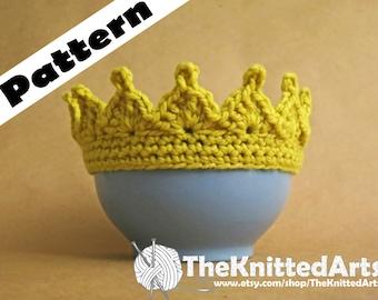 Child Play Crown, Princess Crown, Prince Crown, Crown Photo Prop; Preemie to Toddler Play Crown Pattern