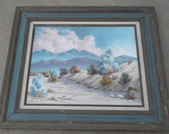 1984 McGrath Original Oil Painting Blue Mountains Signed Listed Artist