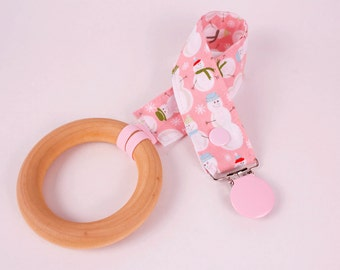 Snowman pacifier clip, Mam, Nuk, Soothie, Gumdrop