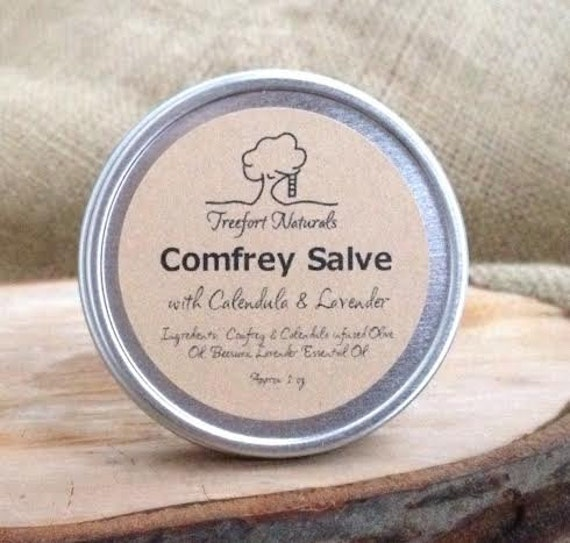 SALE / Closeout - Comfrey Salve with Calendula & Lavender -  Herbal Healing Salve, All natural, Organic herbs, All purpose salve