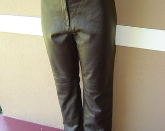 Vintage Leather High Waist Pant