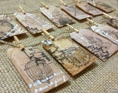 Garland Real Tea Bags Recycled Home Decor Paper Garland - LiLaxO